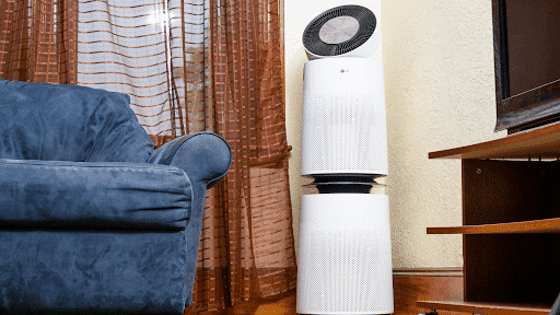 Run your air cleaning machine at Low Speed If You're Not Home
