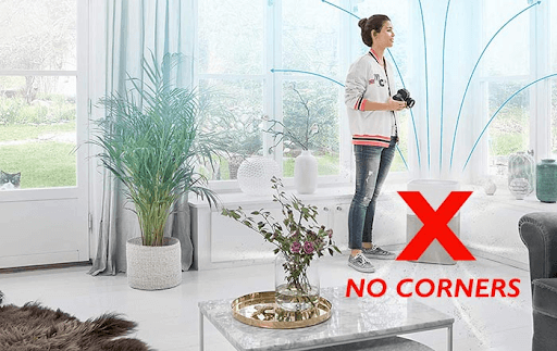 air purifiers should not be placed near corners and tight spaces