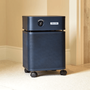 black air purifier from austin with wheels