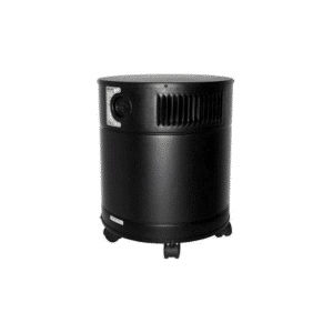 black cylindrical shaped air purifier from allerair