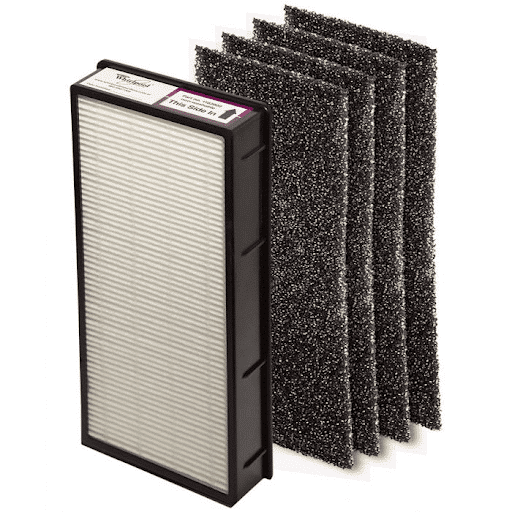 true hepa filter that captures submicron particles down to 0.3 microns at 99.97 percent